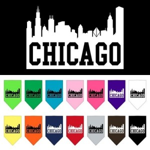 Chicago Skyline Screen Print Pet Bandana | The Pet Boutique