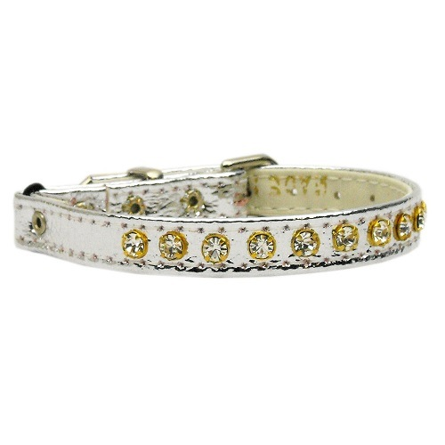 Crystal Cat Safety Collar with Band - Silver | The Pet Boutique