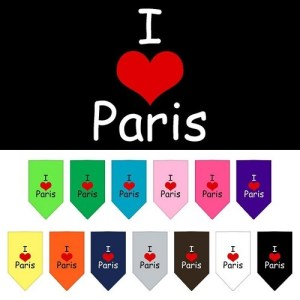 I Heart Paris Screen Print Pet Bandana | The Pet Boutique
