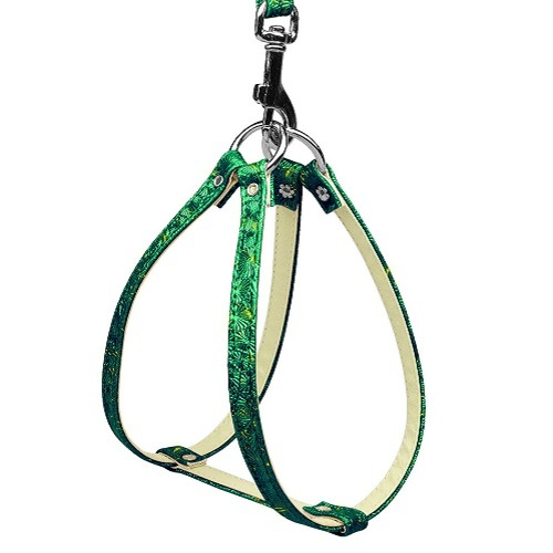 Twinkle Plain Harness - Green | The Pet Boutique