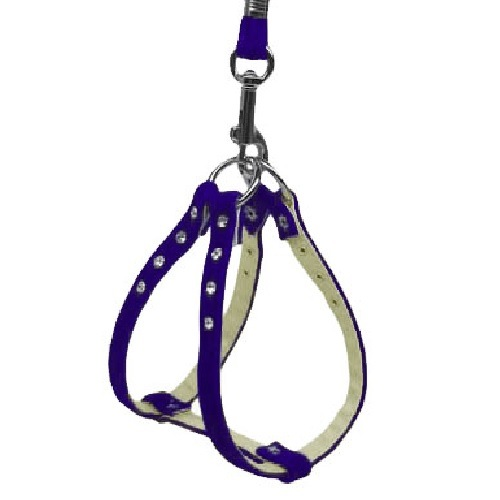 Velvet Step-In Dog Harness - Purple | The Pet Boutique