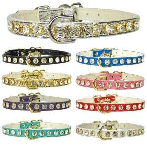 #16 Clear Crystal Dog Collar | The Pet Boutique