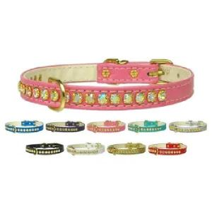Beverly Rhinestone Dog Collar with AB Stones   The Pet Boutique