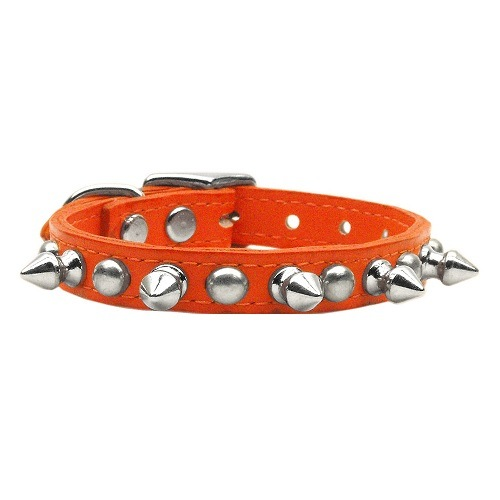 Chaser Leather Dog Collar - Orange | The Pet Boutique