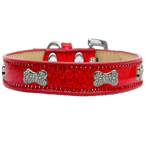Ice Cream Crystal Bone Dog Collar - Red | The Pet Boutique