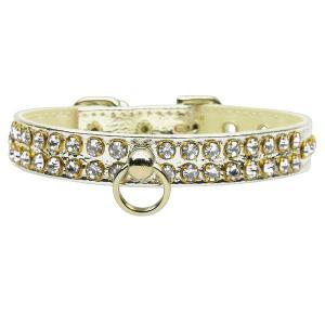 Swank Rhinestone Dog Collar - Silver with Clear Stones   The Pet Boutique