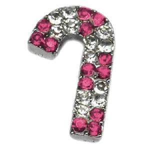 Candy Cane Pet Collar Charm - Pink | The Pet Boutique