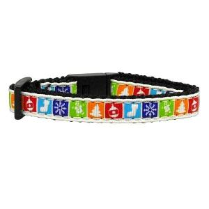 Classic Christmas Nylon and Ribbon Cat Safety Collar | The Pet Boutique