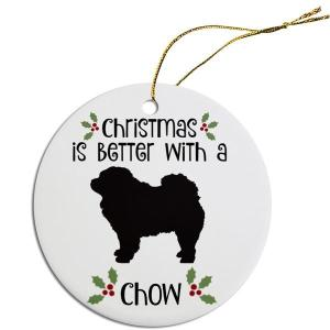 Round Christmas Ornament - Chow   The Pet Boutique