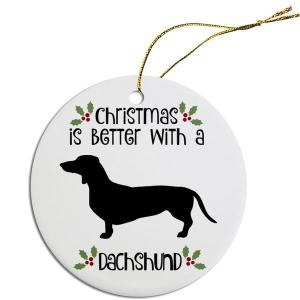Round Christmas Ornament - Dachshund   The Pet Boutique