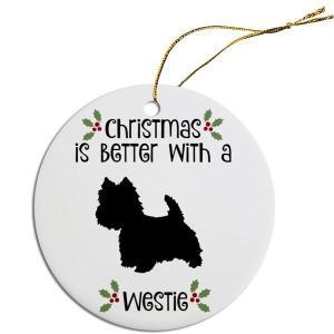 Round Christmas Ornament - Westie | The Pet Boutique