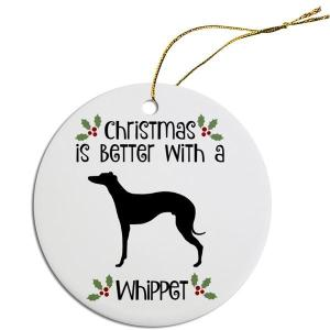 Round Christmas Ornament - Whippet | The Pet Boutique
