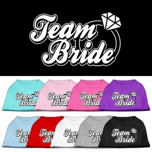 Team Bride Screen Print Pet Shirt | The Pet Boutique