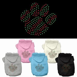 Holiday Paw Rhinestone Pet Hoodie | The Pet Boutique