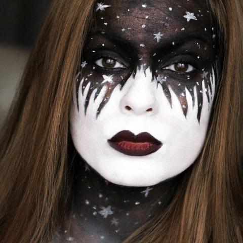Tutoriel makeup Halloween – Des étoiles plein la tête !