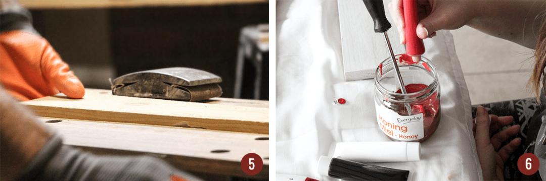 Sapin en bois DIY étapes 5 et 6