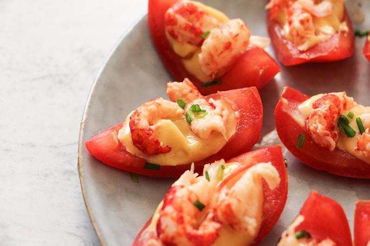 canapes tomates ecrevisses