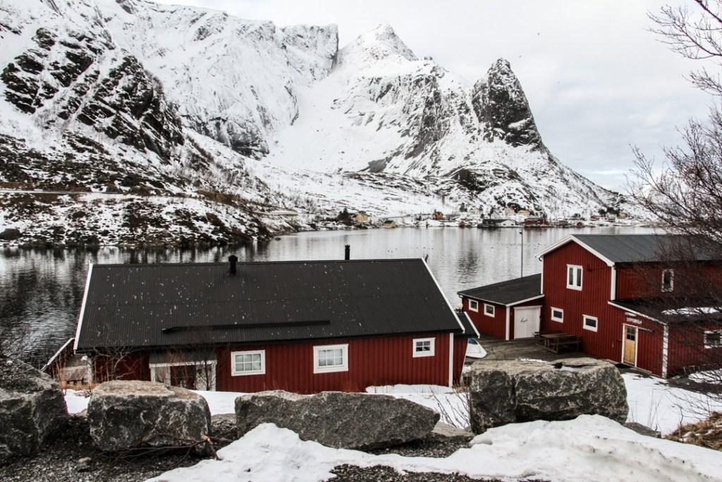 Maisons rouges Norvege