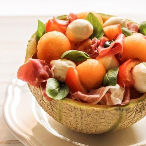 Salade de melon-jambon