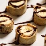 Recette makis de crêpes banane & chocolat praliné