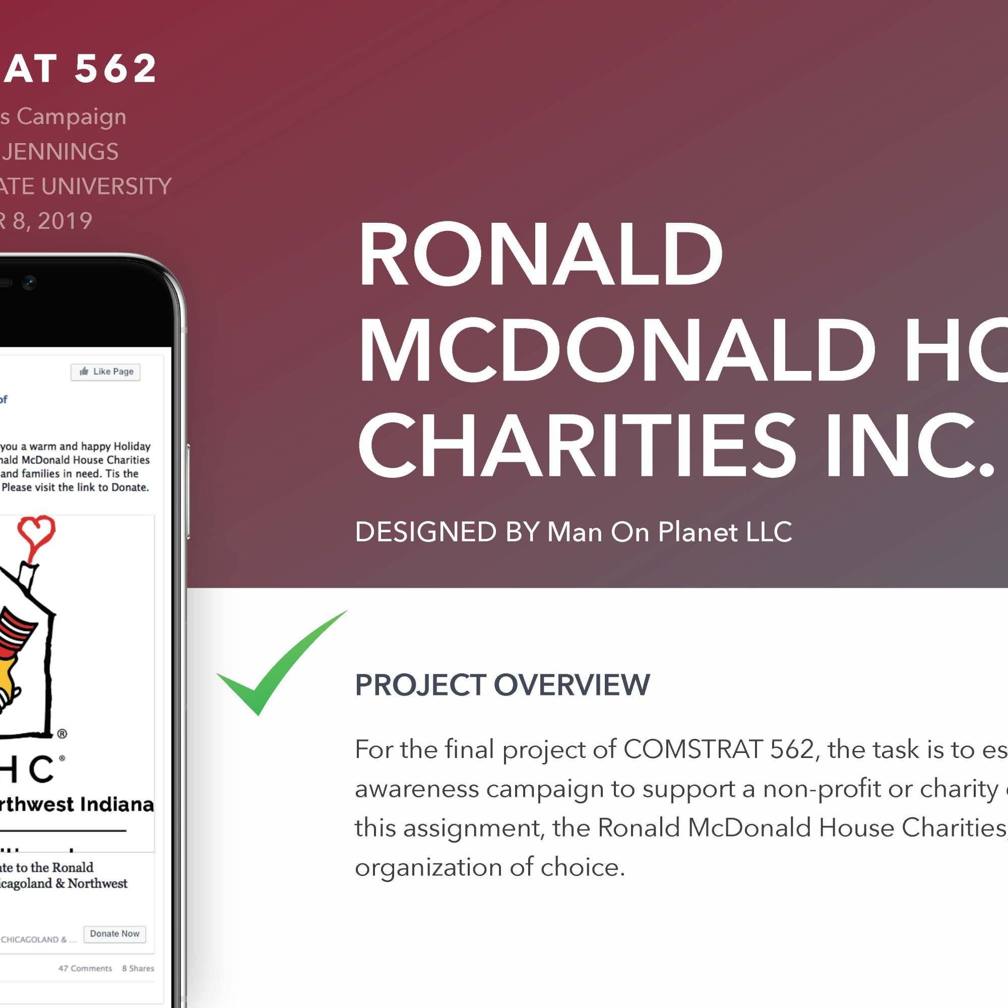 Ronald McDonald House Charities Inc. Campaign Proposal Cover