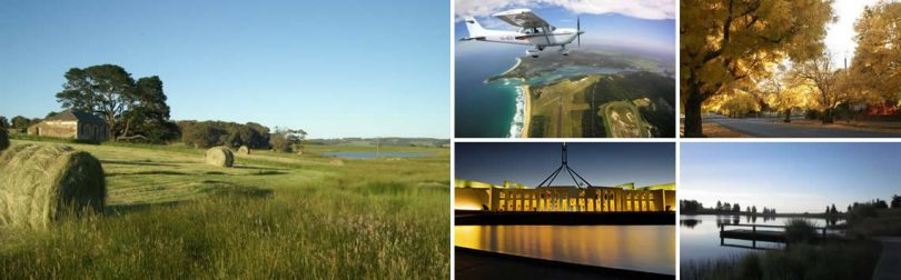 Picture collage of Canberra