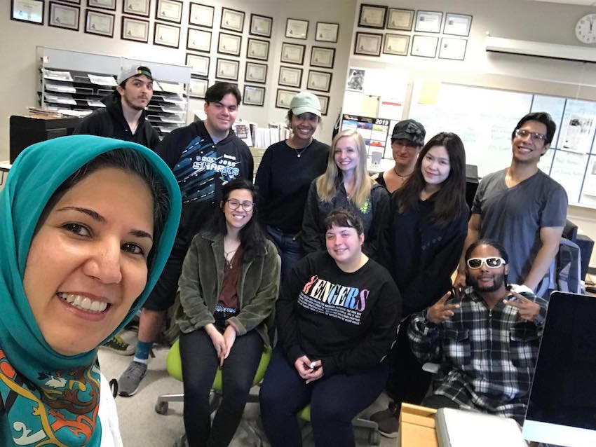 San José City College journalism students at the City College Times publication.