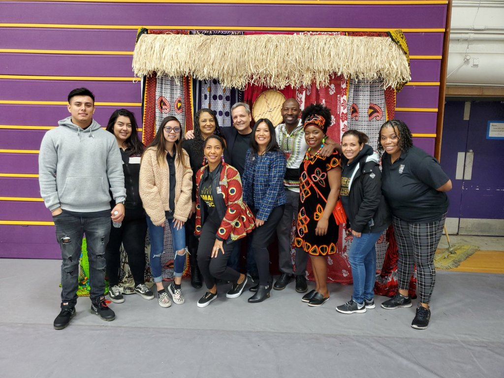 Umoja students participated in African Ancestry Day at San José City College, February 2020. Featuring African fashion, food, dance, workshops, and guest speakers.