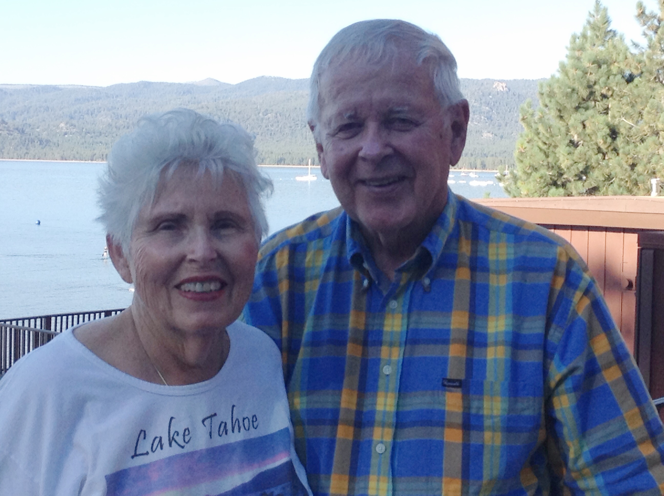 Hunter and his wife celebrating their 60 year anniversary in Tahoe in 2020
