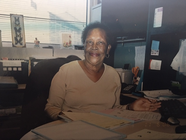 Ms. Young in her counseling office at SJCC
