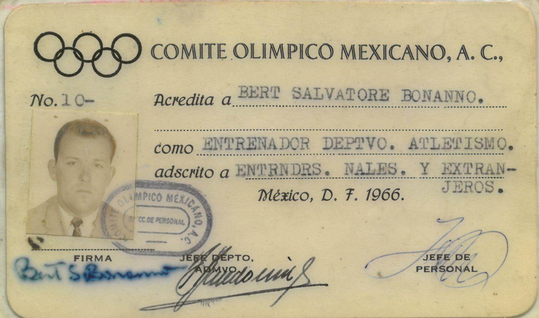Bonanno's ID card in Mexico