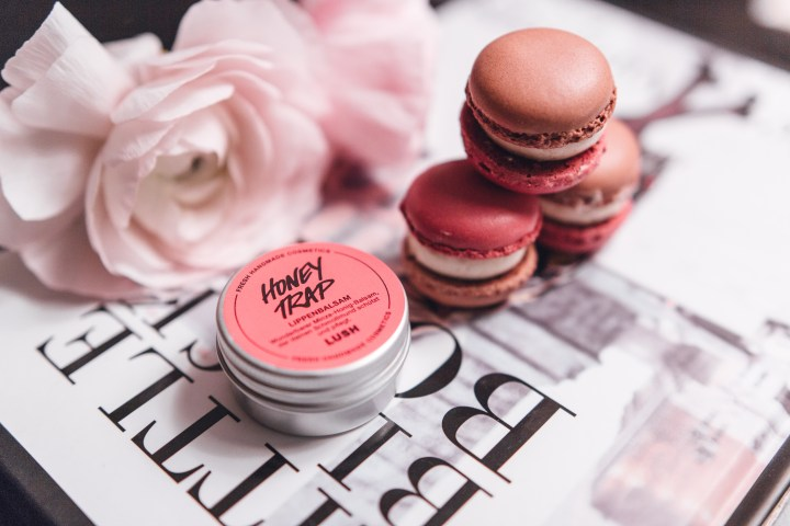 Lush lip balm Honey Tram by The Rosegold Diary