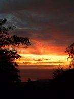hawaii island sunset
