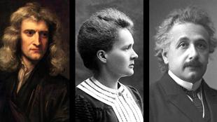 Newton Einstein Curie
