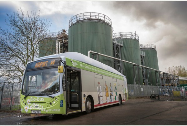 The bio-bus will carry passengers between Bath city centre and Bristol airport (photo: Wessex Water/PA)