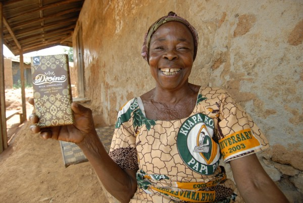 A member of the Kuapa Kokoo co-operation, who supplies and co-owns the Divine Chocolate company (photo: Divine Chocolate)