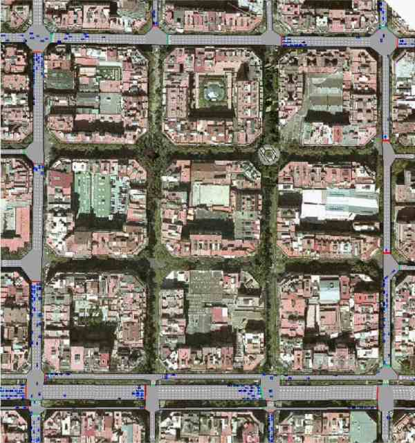 Eixample's grid pattern is perfectly suited for the superblock concept
