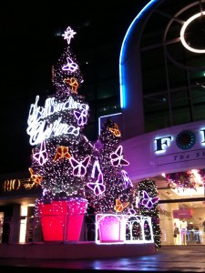Christmas tree at Forum, singapore