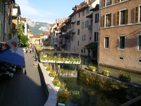 canal, Annecy, old town, Alps