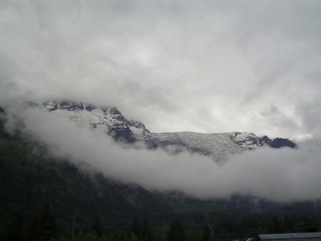 Chamonix, french alps, france, snow, clouds