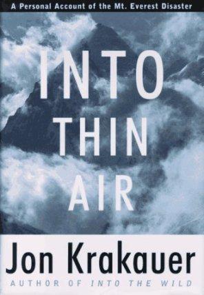 Into thin air, jon krakauer, best travel books