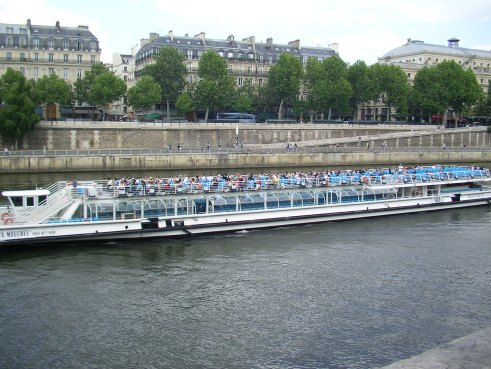 River Seine, Paris, tourist boat