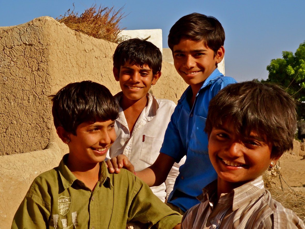 Indian village kids, Indian village children, Rajasthan village