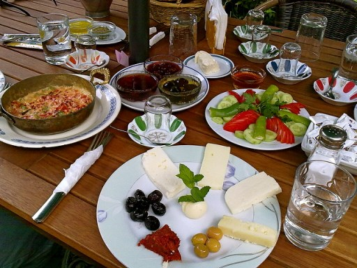 breakfast in Turkey, vegetarian food in turkey