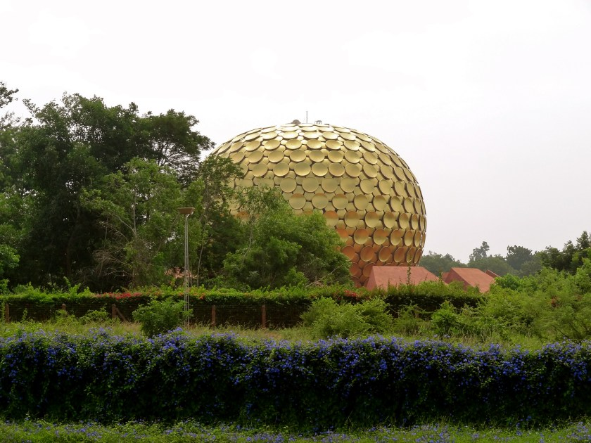 Matrimandir, Auroville architecture, Auroville photos, auroville utopia