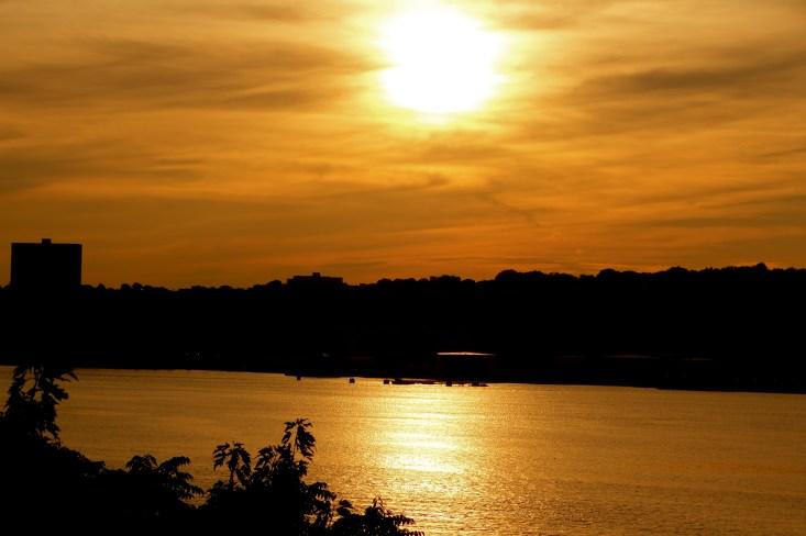 Hudson river sunset, New York sunset