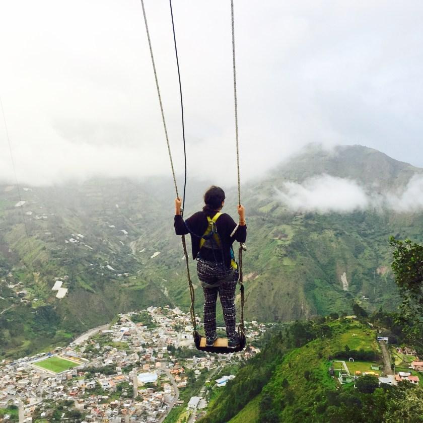 banos ecuador, ecuador swing, ecuador solo travel, ecuador blogs