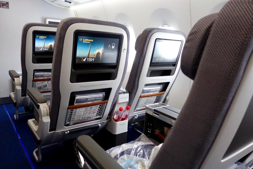 Lufthansa premium economy, lufthansa A350 seats, lufthansa review