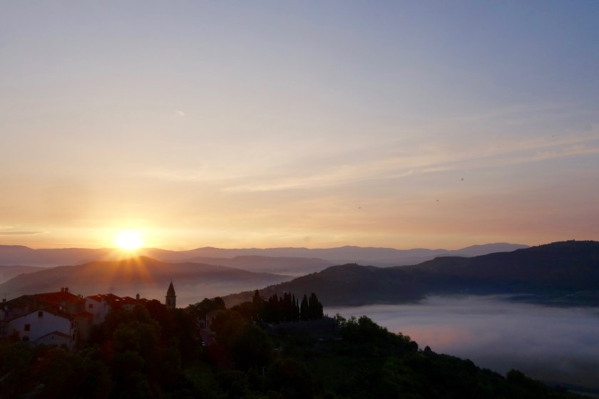 istria sunrise, croatia sunrise, croatia travel blogs