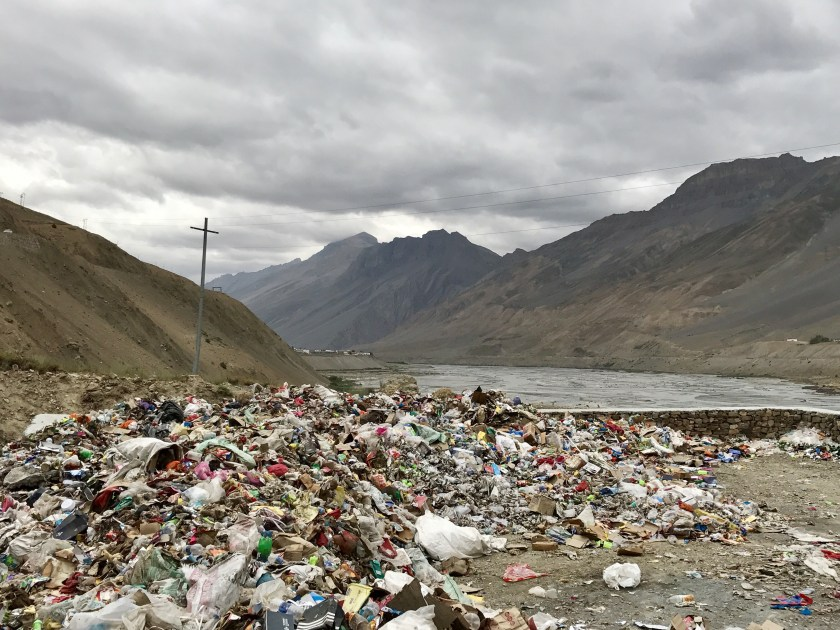 spiti trash, spiti waste management, single use plastic spiti, i love spiti, responsible travel campaign india, waste management india